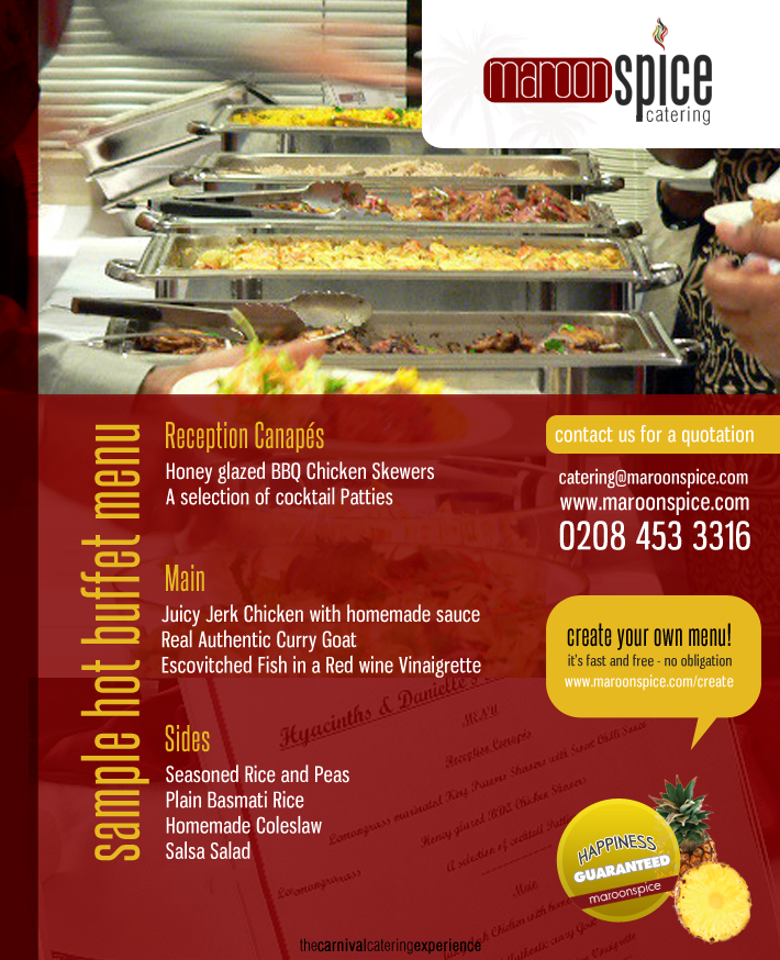 Indian Wedding Reception Food Menu: West Indian Caribbean Caterers In London