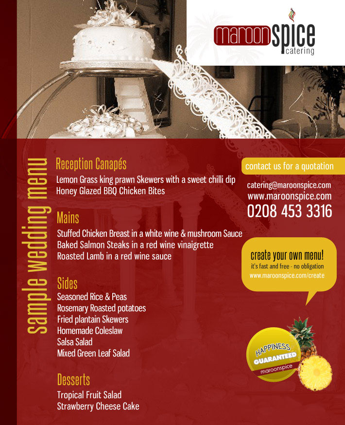 maroon spice west indian caribbean caterers in london available